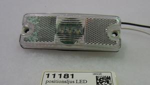 positionsljus LED Truck-lite vit (PC) (11182)