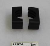 rörklämma 2 delad svart plast 42mm