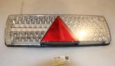 Bakljus LED 24V med triangel 7-kam  Vänster