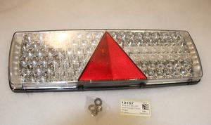 Bakljus LED 24V med triangel 7-kam  Höger