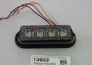 13922 Blixtljus 4 led ECE R65 orange 12/24