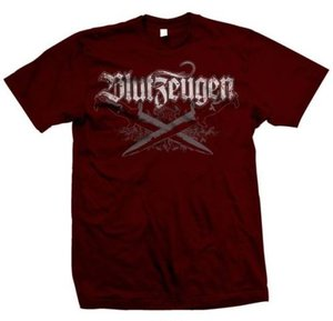 Blutzeugen - Messer - Röd - T-shirt