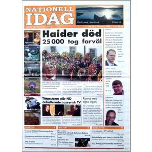 Nationell Idag nr. 19, 2008