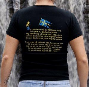 Mitt fädernesland - Svart - Dam - T-shirt