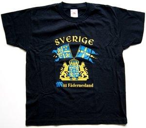 Mitt fädernesland - Svart - Barn - T-shirt