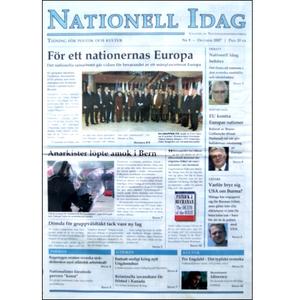 Nationell Idag nr. 9, 2007