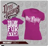 One Family - Fuchsia - Dam - T-shirt