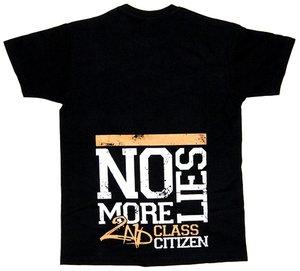 Second Class Citizen - No more lies - Svart - T-shirt