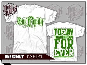 One Family - Vit - T-shirt