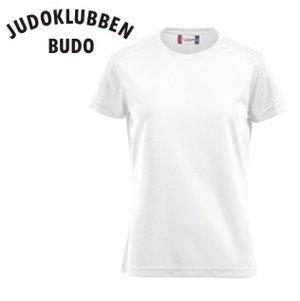 Funktions T-shirt Clique Ice, vit, Judoklubben Budo, DAM