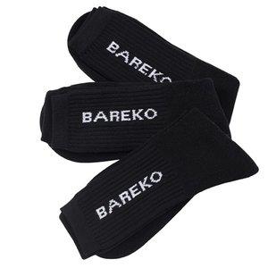Sportstrumpor, bomull, Bareko, 3-pack, svart