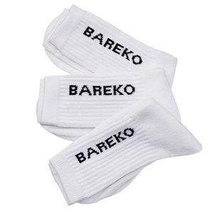 Sportstrumpor, bomull, Bareko, 3-pack, vit