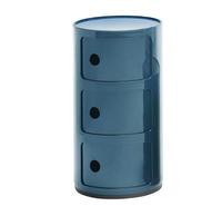 Blå Componibili 3 lådor 32 cm diam.