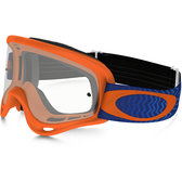 Oakley kids goggles goggles XS O Frame MX Shockwave Orange Blue clear lens