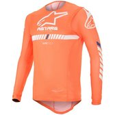 Alpinestars Supertech Tröja Orange Flu/Vit/Blå