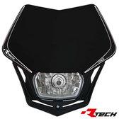 Headlight V-Face Svart