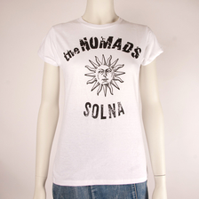THE NOMADS - T-SHIRT DAM, LOGO SOL (VIT)