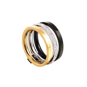 Snygg design ring i stål storlek 54