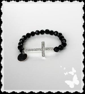 a545 Läcker svart bling armband