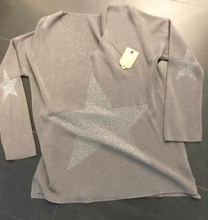 Skön one size tröja i grått