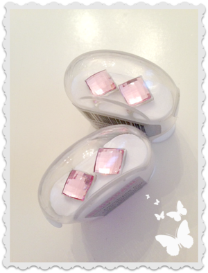 Medical Plastic facet square 8 mm light rose