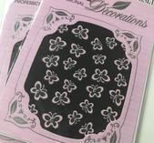 Rosa fjärils stickers