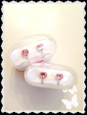 Medical plastic heart 6 mm light rose