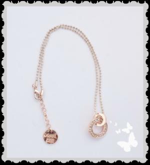 Läckert halsband med koppar inslag och bling