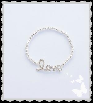 a718 Armband `Love`med bling