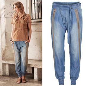 Liv Pants Soft blue denim Cream 40