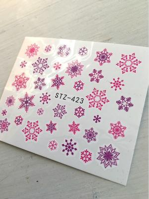 Vattendelaker rosa / lila snöflingor