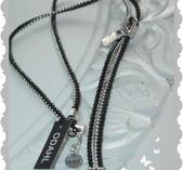 hb99 Långt halsband som en dragkedja