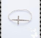 a735 Kors armband med bling