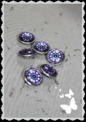 Mixxa Mörk lila mönster 1 st