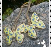 Liten gul fjäril