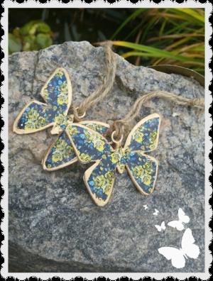 Liten blå fjäril