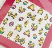 Stickers påsk kycklingar
