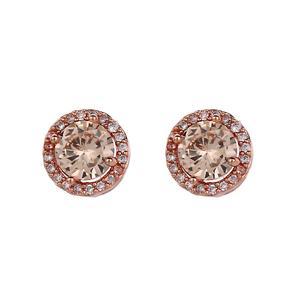 Söta rose örhängen med rosa sten