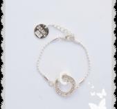 a724 Silver färgat armband med bling