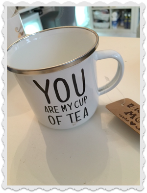 You are my cup of tea emalj mugg
