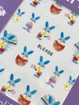 Vattendekaler blåa kaniner