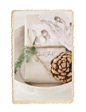 Set med fina God Jul klistermärken