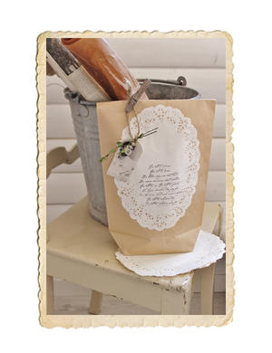 Oval tårtpapper/kakservett