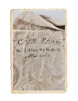 Handgjord juteväv säck med tryck