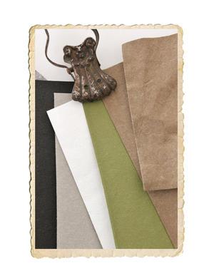 Rulle läderpapper, finns i olika färger