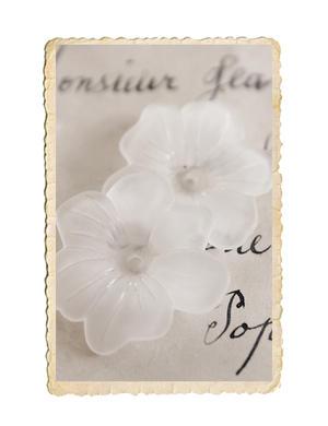 10 st frostade blompärlor