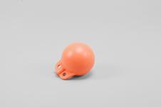 Garnblåsa, hård, 4', orange