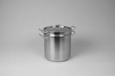 Kastrull med insats, 21 liter, rostfritt