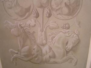 Grisaillemålning hästar