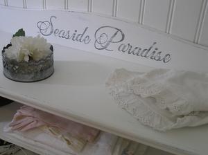 Skohylla skobänk sittbänk Seaside Paradise